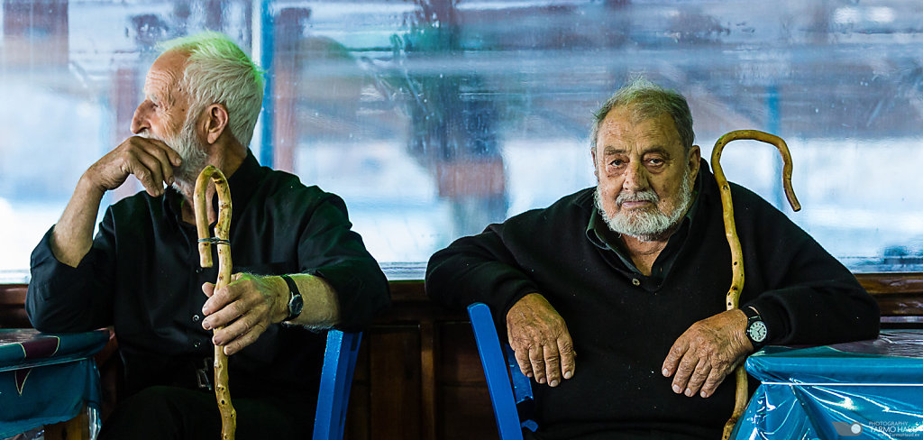 Two local old men in a Tavern